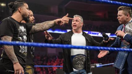 """McMiz TV"" gets heated between The Usos and Shane McMahon & The Miz: Feb. 12, 2019"