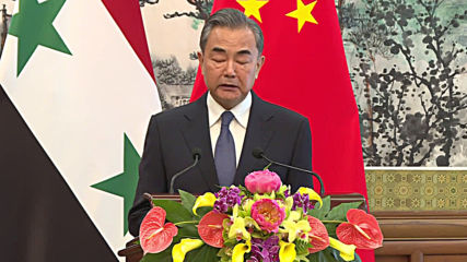 China: FM Wang Yi says Beijing supports political solution in Syria