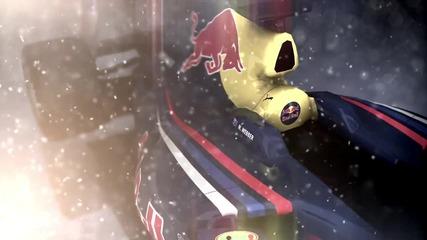 Болида на Red Bull върху замръзнало езеро!