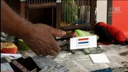 Mani, the Singaporean parrot picks Holland as World Cup 2010 Champion