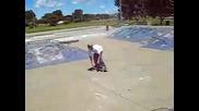 Justin Bieber does a Backflip Skateboarding