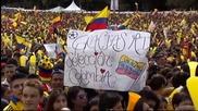 120 хиляди посрещнаха колумбийските герои