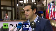 """Belgium: """"Syriza has averted collapse of Greek financial system""""- Tsipras"""