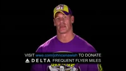 youtube help john cena grant wishes by donating your delta frequent