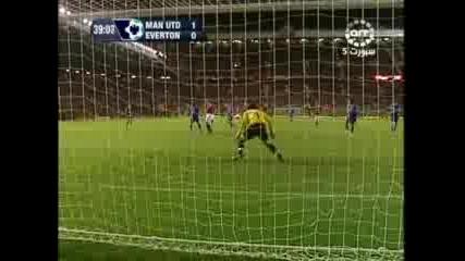 Man U - Everton1 - 0 Гол На Кр. Роналдо