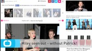 Miley Seen Out - Without Patrick!