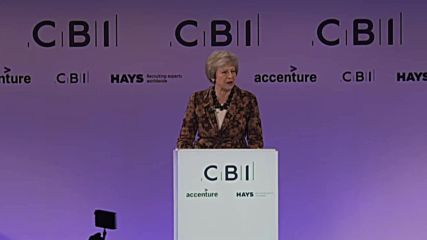 UK: May sells 'best Brexit deal' to businessmen at CBI conference