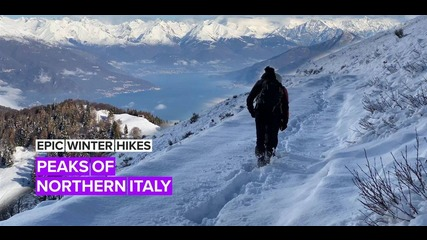 Epic Winter Hikes: The best view of Lake Como is here