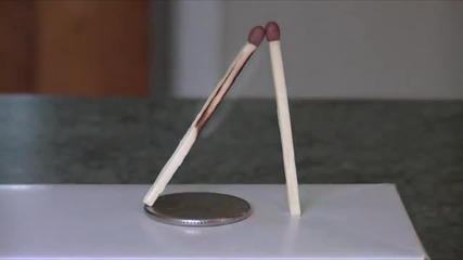 Готин трик с кибритени клечки