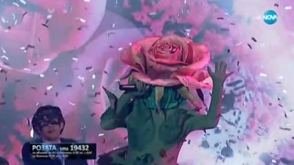 Розата изпълнява You Shook Me All Night Long на AC/DC | Маскираният певец