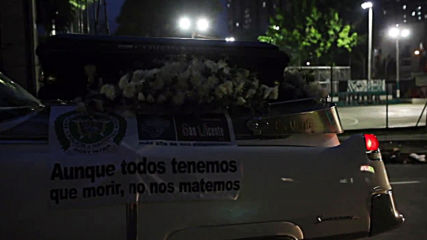 Colombia: Coronavirus hearses hit the streets reminding citizens to stay home