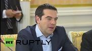 "Russia: Tsipras meets Medvedev, praises Greek-Russian ""brotherhood"""