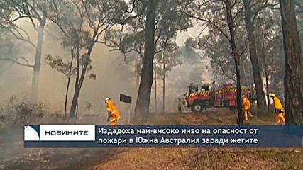 Издадоха на-високо ниво на опасност от пожари в Южна Австралия заради жегите