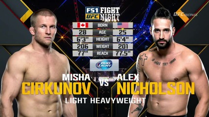 Misha Cirkunov vs Alex Nickolson (ufc Fight Night 82, 06.02.2016)