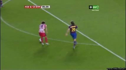 Fc Barcelona vs Atletico Madrid - 4 - 2 - Forlan