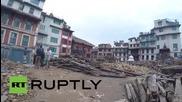 Разрушенията след земетресението в Катманду, заснети с GoPro камера