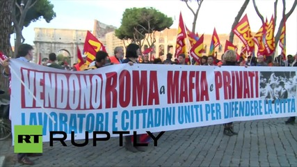 Italy: Striking transport workers bring Rome to standstill