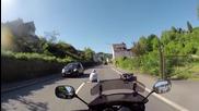 Шофьор блъска моторист и се опитва да избяга