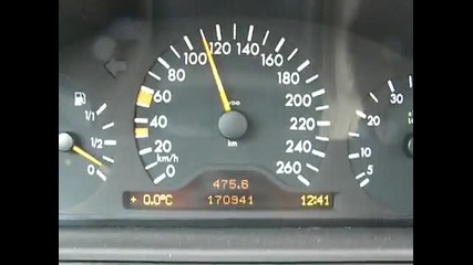 Mercedes W210 E430 0 - 210 km/h