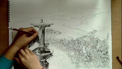 Рисуване на Рио Де Жанейро