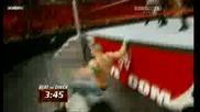 John Cena vs. The Miz ( Wwe Monday Night Raw 270709 )