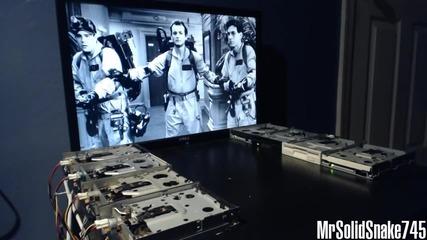 Флопи дискове изпълняват Ghostbuster's Theme