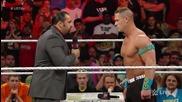 Rusev и Jonh Cena подписват договора за мач на Wrestlemania 31- 16.03.15 Първична сила