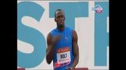 Юсейн Болт на 100 м. в Острава - 10.04