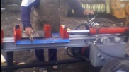 Хидравлична машина за цепене на дърва