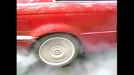 Bmw 330ci burnout