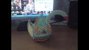 Създаването на хартиен лебед