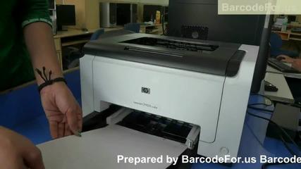 Print barcodes using laser and thermal printer