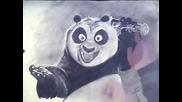 Kung Fu Panda Fun speed drawing portrait