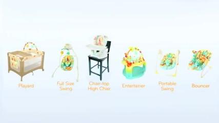 Люлка за бебе с нови технологии Sunnyside Safari с марката Bright Starts
