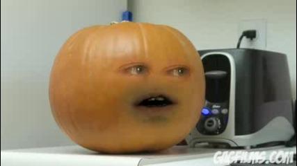 Тиква и портокал си лафят