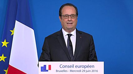 Belgium: Hollande says UK must accept EU conditions for market access