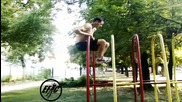 Front lever to muscle up - Fun mode