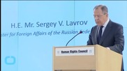 Russia's Lavrov Calls for Pull-back of Weapons in Ukraine