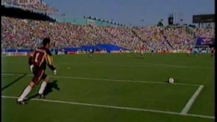Футбол Аржентина - България 1994 - Първо полувреме - Част 2/4 (високо качество)