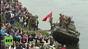Germany: WWII US-Soviet handshake recreated on the Elbe