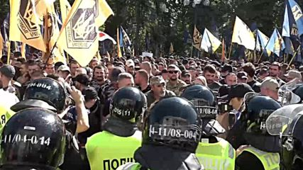 Ukraine: Ultra-nationalists protest extradition of foreign fighters