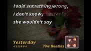 Beatles - Yesterday (karaoke)