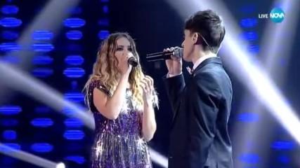 Марио и Виктория се борят да останат в шоуто с песента Say something, X Factor Live (05.11.2017)