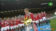 Димитър Бербатов и Манчестър Юнайтед вдигнаха за 19ти път Купата на Висшата Лига
