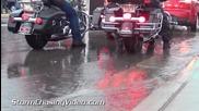 Дъжд в седмицата за мотори в Стърджис, Южна Дакота 5.8.2014