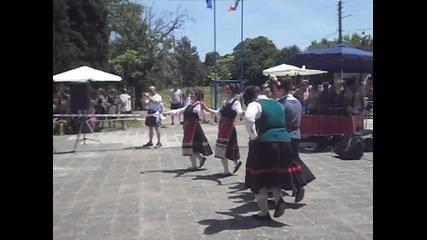 момичета от с. Подвис на Мегданско увеселение в с. Лозарево 2011