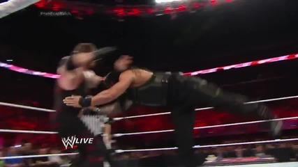 Roman Reigns vs. Kane & Randy Orton - 2-on-1 Handicap Match: Raw, July 21, 2014