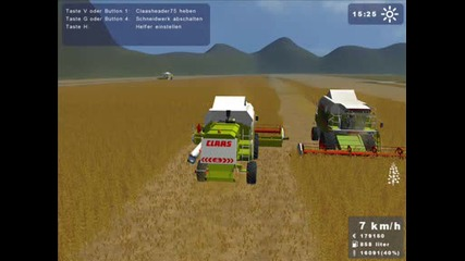 3x Claas Mega 208 and T - 150 K