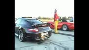 Porsche 997 Techart Turbo 630 Bhp Vs. Dodge Viper 8.6 V10 Drag Race