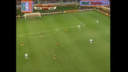 Супер гол на Робин Ван Перси срещу Камерун (fifa World Cup 2010 )